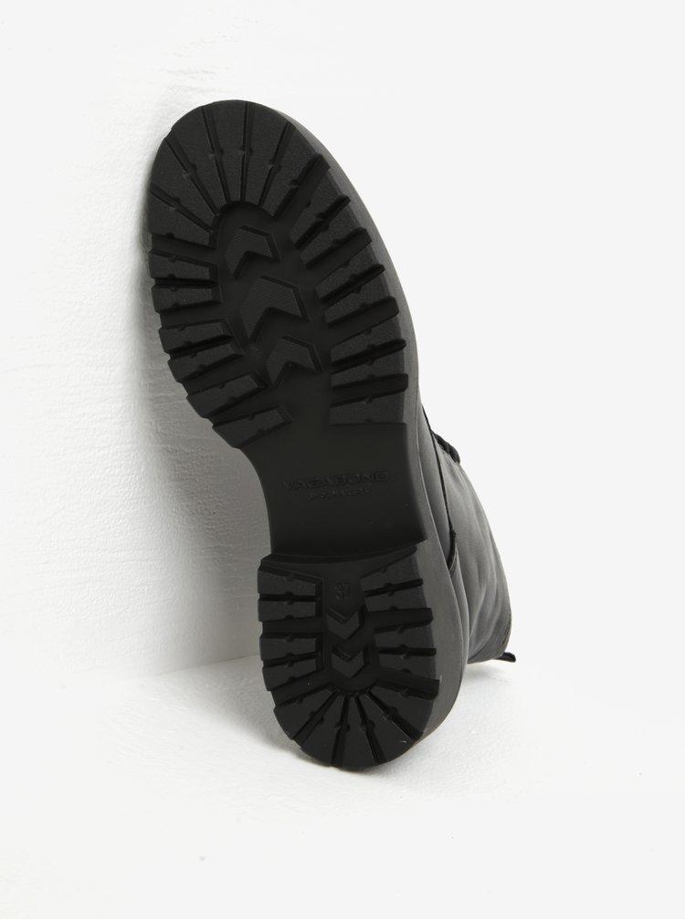Černé dámské kožené kotníkové boty Vagabond Kenova