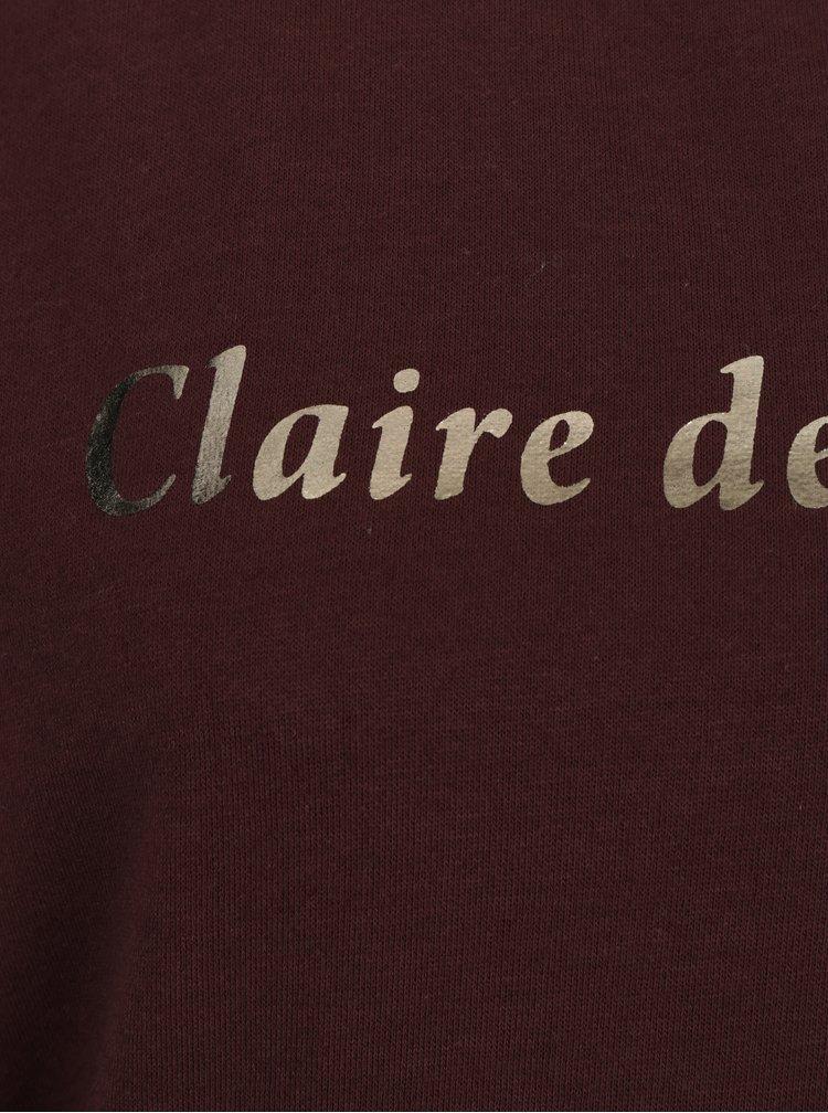 Bluza bordo cu print  pentru femei - Broadway Briony