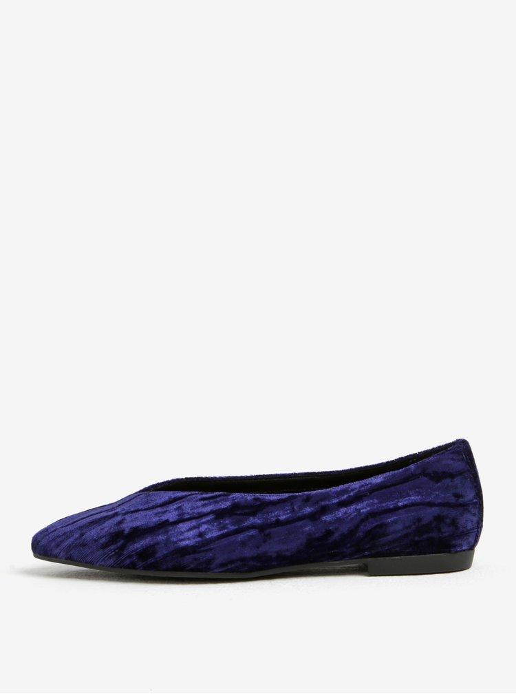 Tmavě modré sametové baleríny Vagabond Katlin