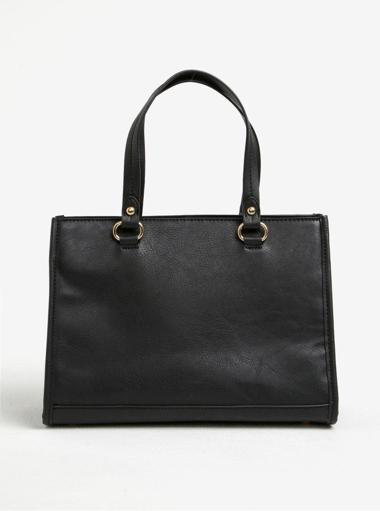 Černá kabelka do ruky se zipem ve zlaté barvě Dorothy Perkins