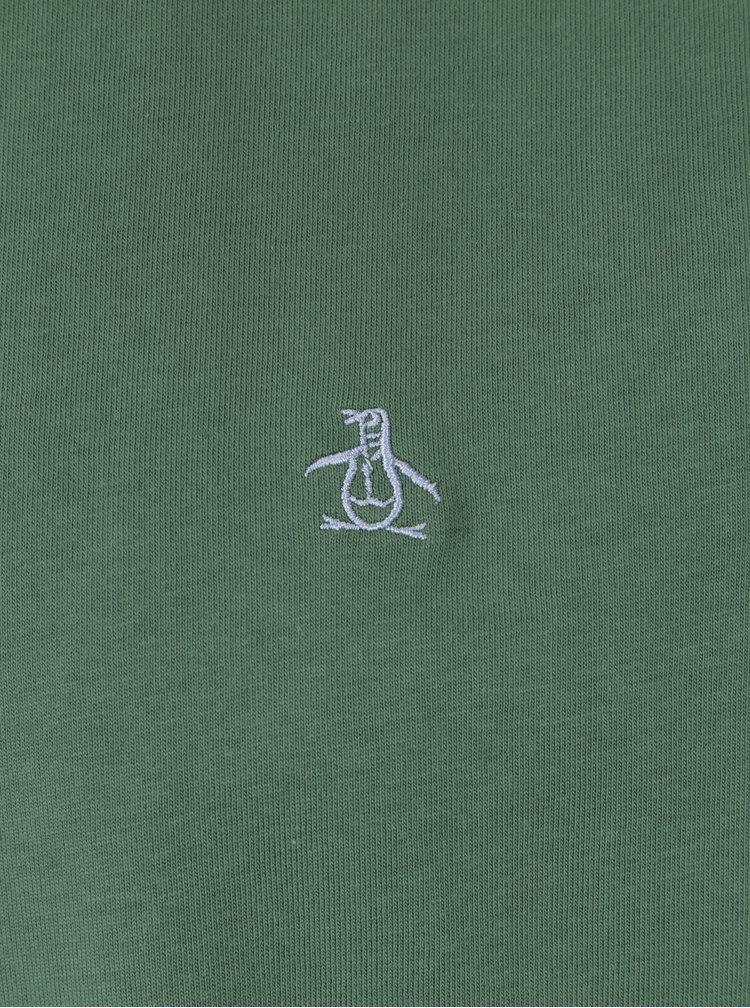 Zelené tričko s krátkým rukávem Original Penguin Pin Point Embroidery