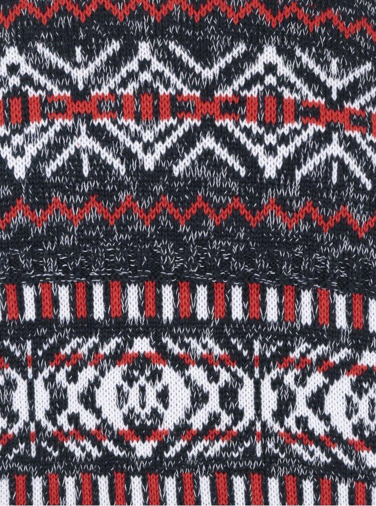 Černý vzorovaný svetr ONLY & SONS Omas