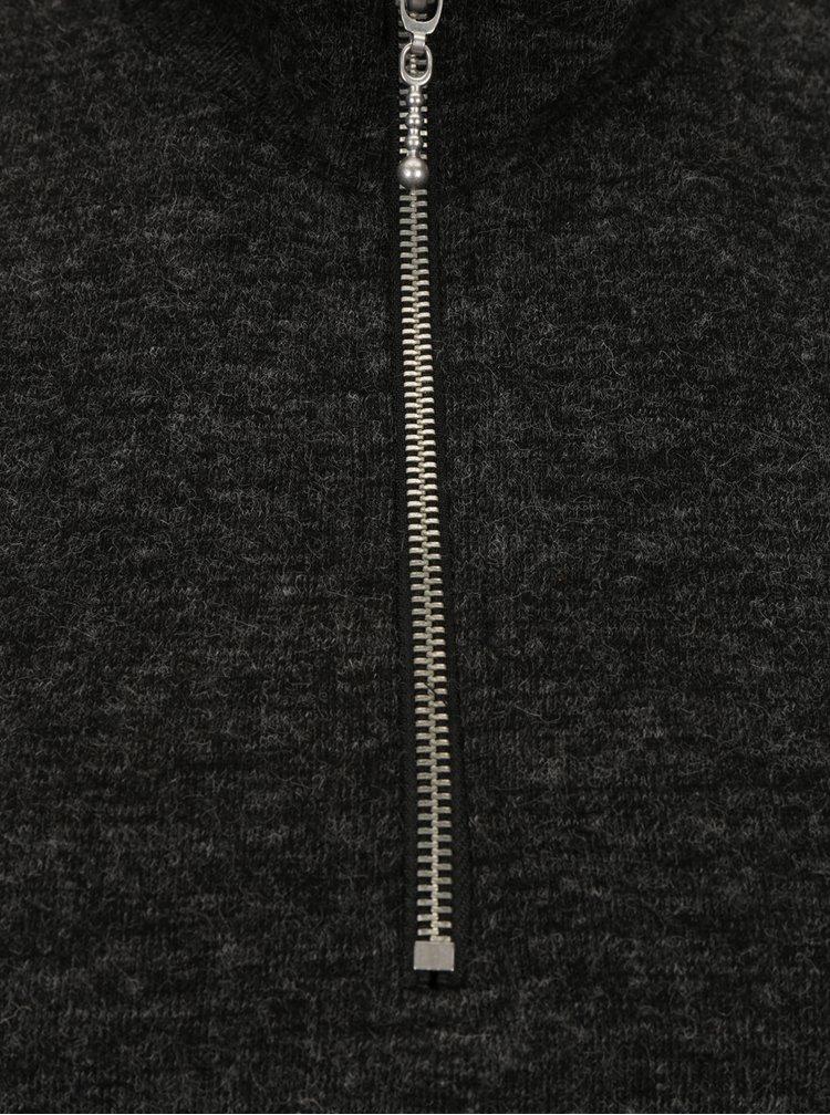 Tmavě šedé žíhané svetrové šaty Broadway Ormonde
