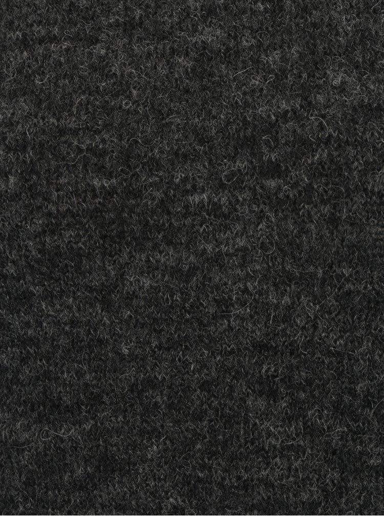 Tmavě šedé žíhané svetrové šaty s příměsí vlny Broadway Namara