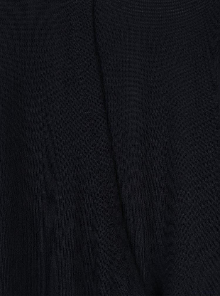 Bluza bleumarin cu partea frontala suprapusa - Broadway Otiilie