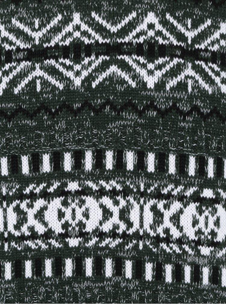 Tmavě zelený vzorovaný svetr ONLY & SONS Omas