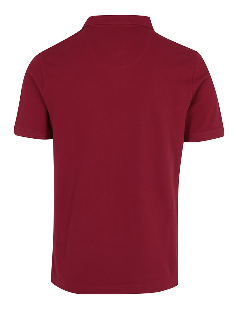 Červené slim fit polo tričko s krátkým rukávem Original Penguin Raised Rib
