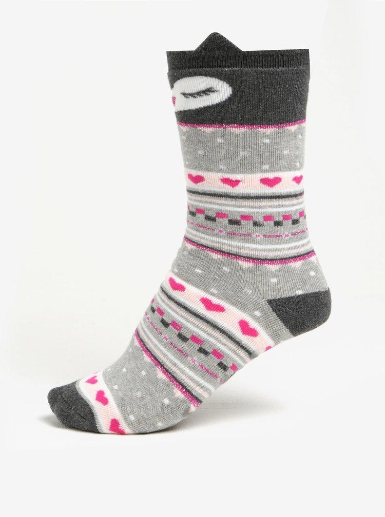 Súprava dvoch párov krémovo-ružových protišmykových ponožiek Dorothy Perkins