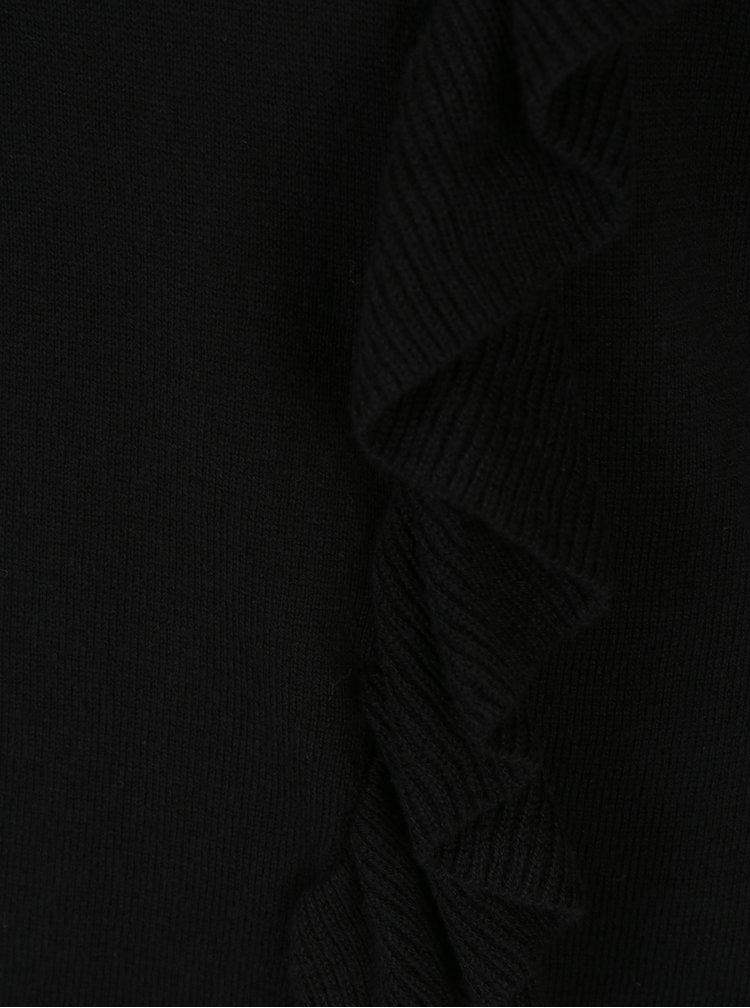 Černé tričko s volánkem Broadway Olevia