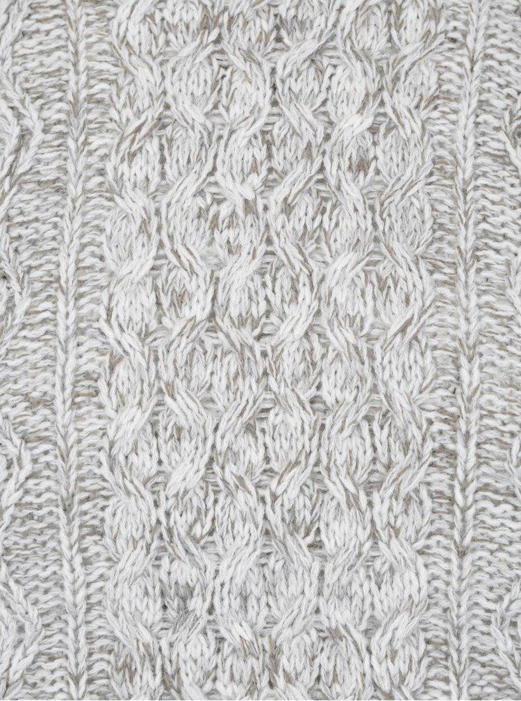 Krémový žíhaný svetr s příměsí vlny ONLY & SONS Heath