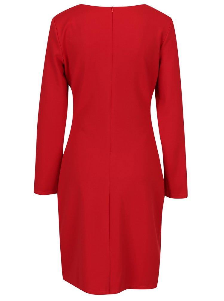 Červené šaty s dlouhým rukávem Smashed Lemon