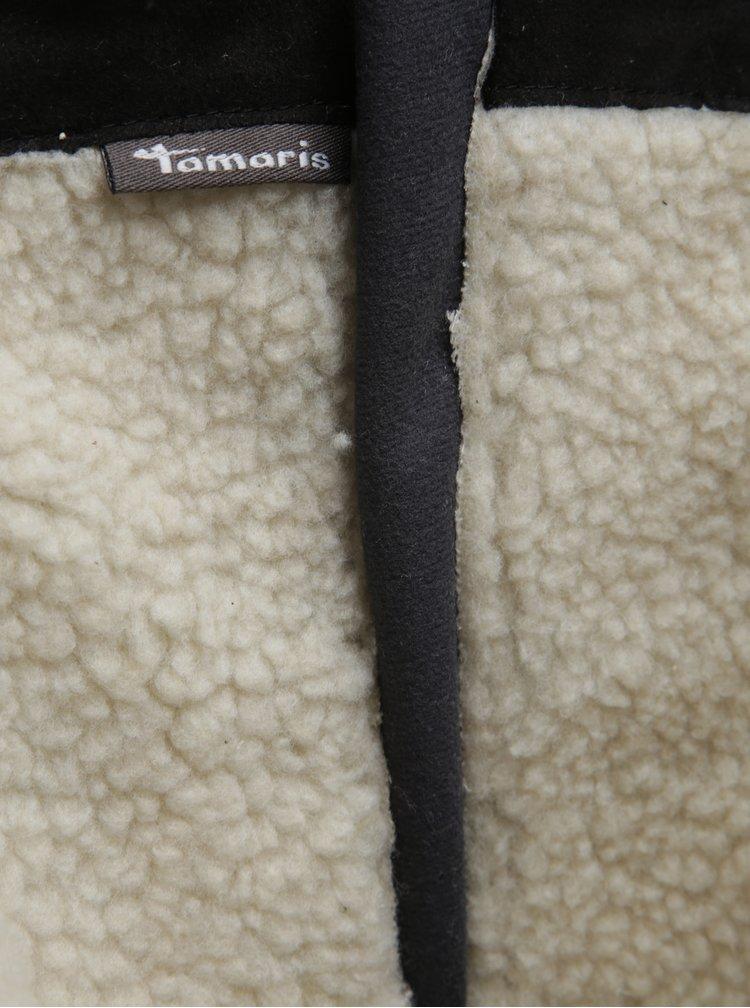 Černé semišové kozačky Tamaris