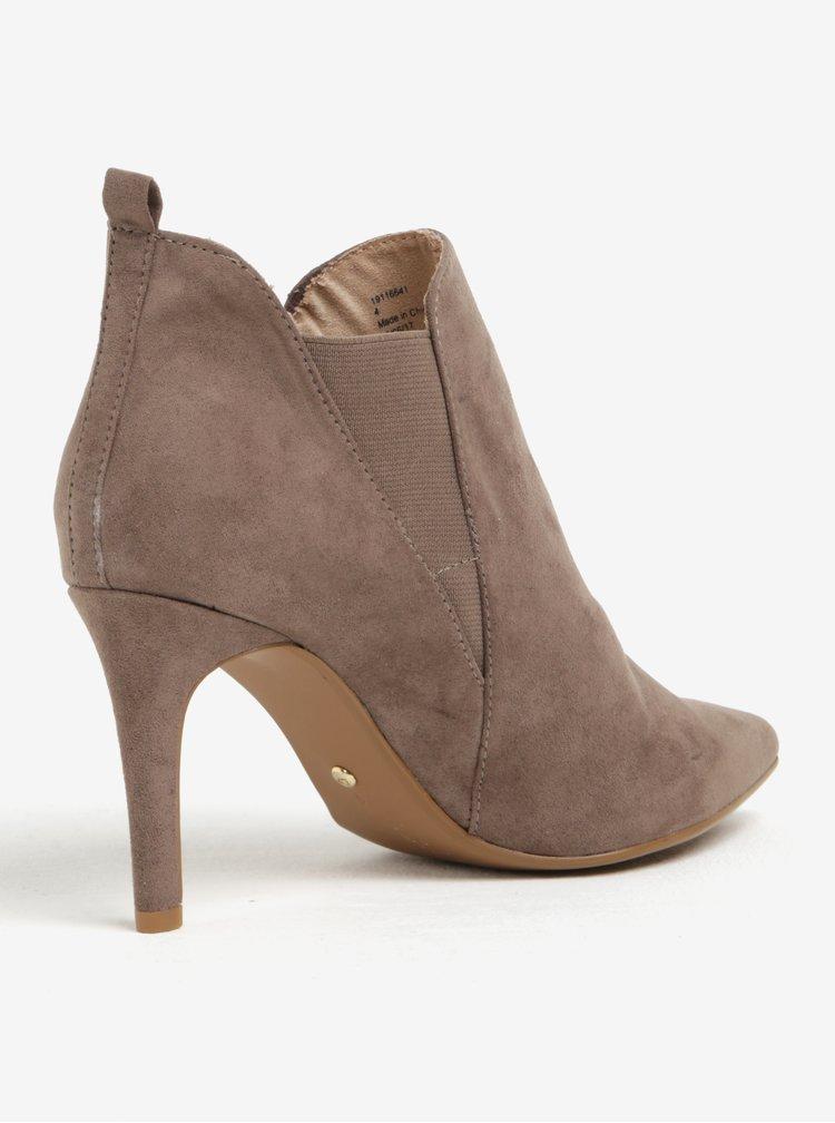Světle hnědé boty na podpatku Dorothy Perkins