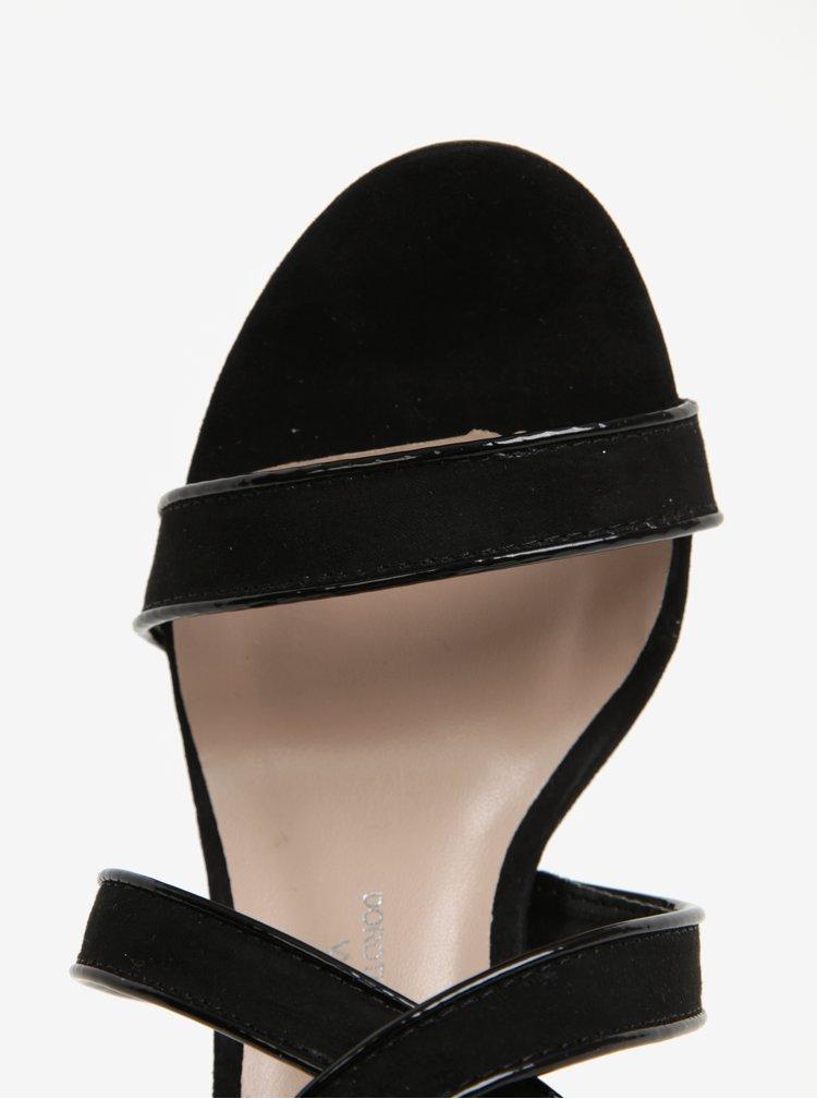 Černé sandálky na jehlovém podpatku Dorothy Perkins