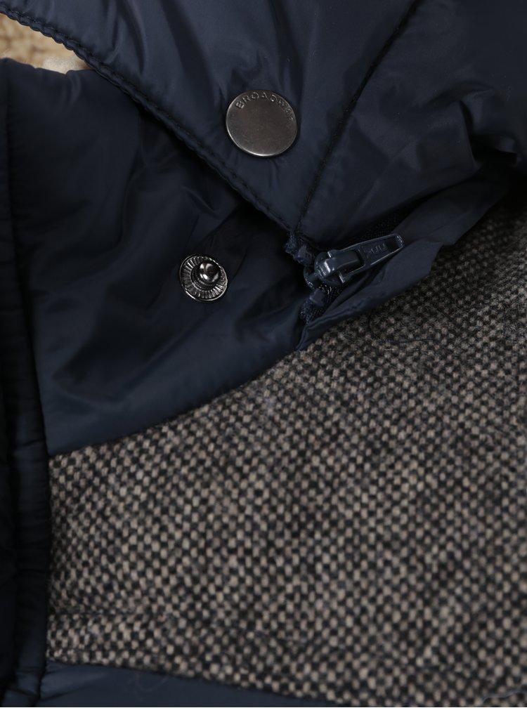 Tmavě modrá pánská prošívaná  vesta Broadway Ozzy