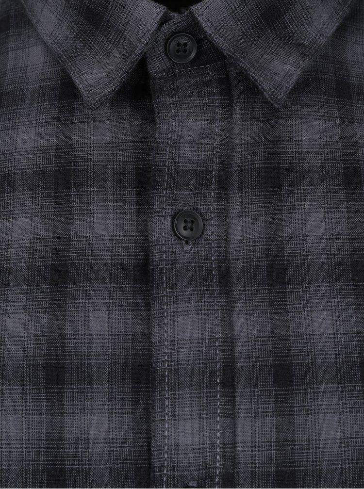 Tmavě šedá kostkovaná slim košile ONLY & SONS Bilal