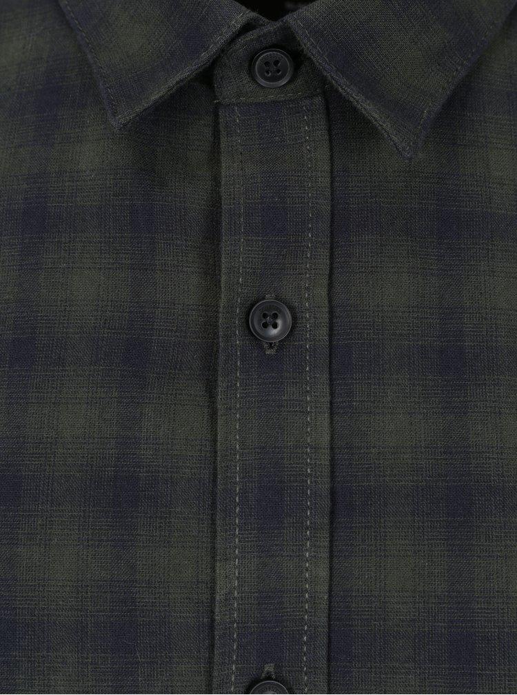 Camasa slim verde inchis&negru cu carouri ONLY & SONS Bilal