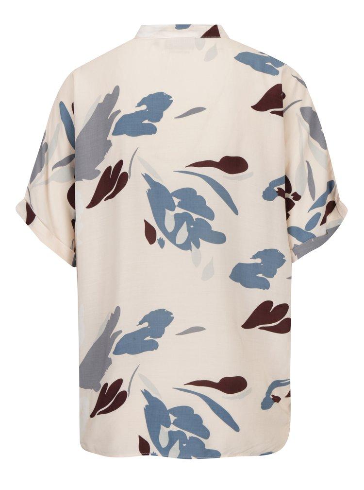 Bluza roz deschis cu print pentru femei - Broadway Nisse