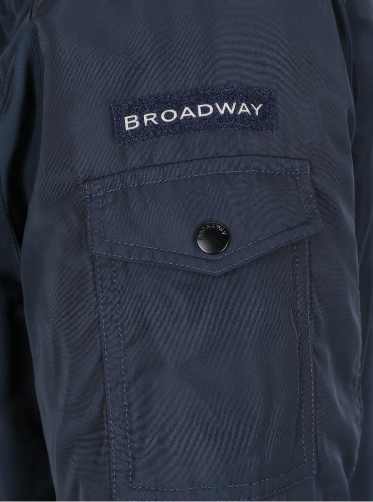 Tmavě modrá pánská zimní parka Broadway Osmo