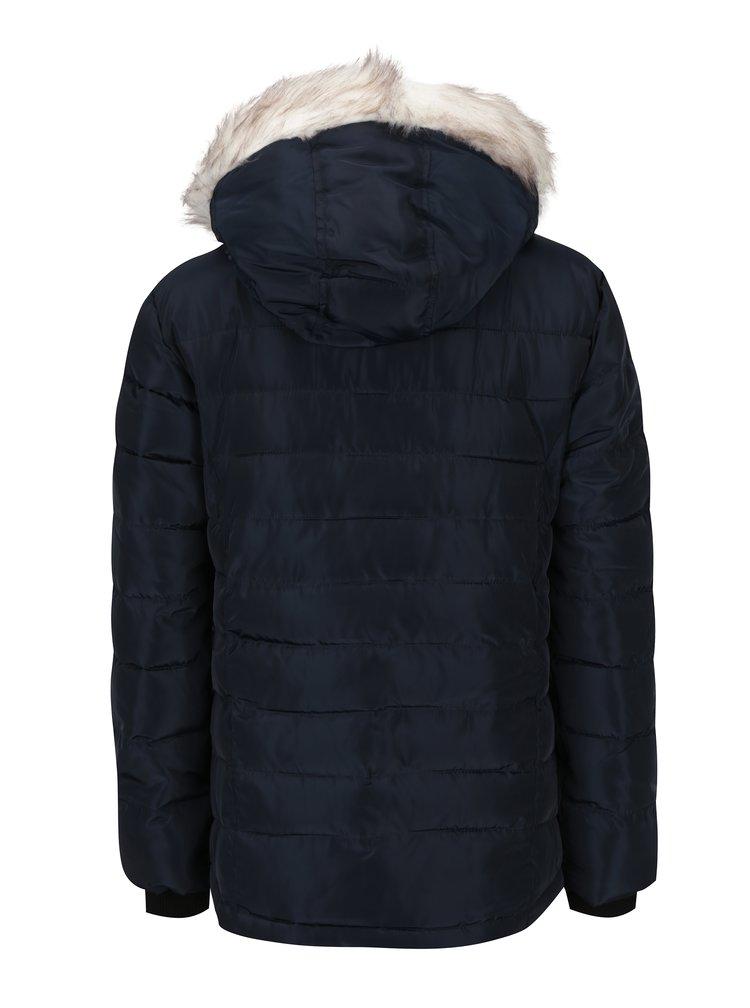 Tmavě modrá prošívaná zimní bunda Dorothy Perkins Petite