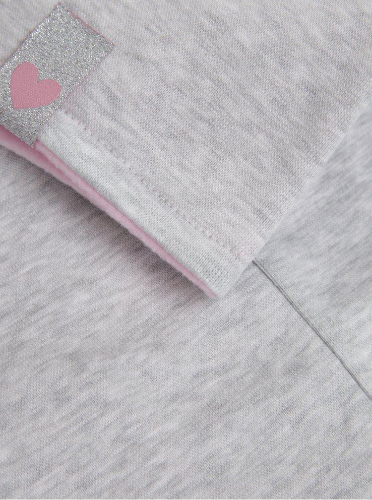 Růžovo-šedý holčičí nákrčník 5.10.15.