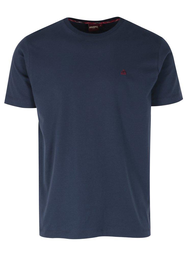 Tmavě modré tričko s krátkým rukávem Merc