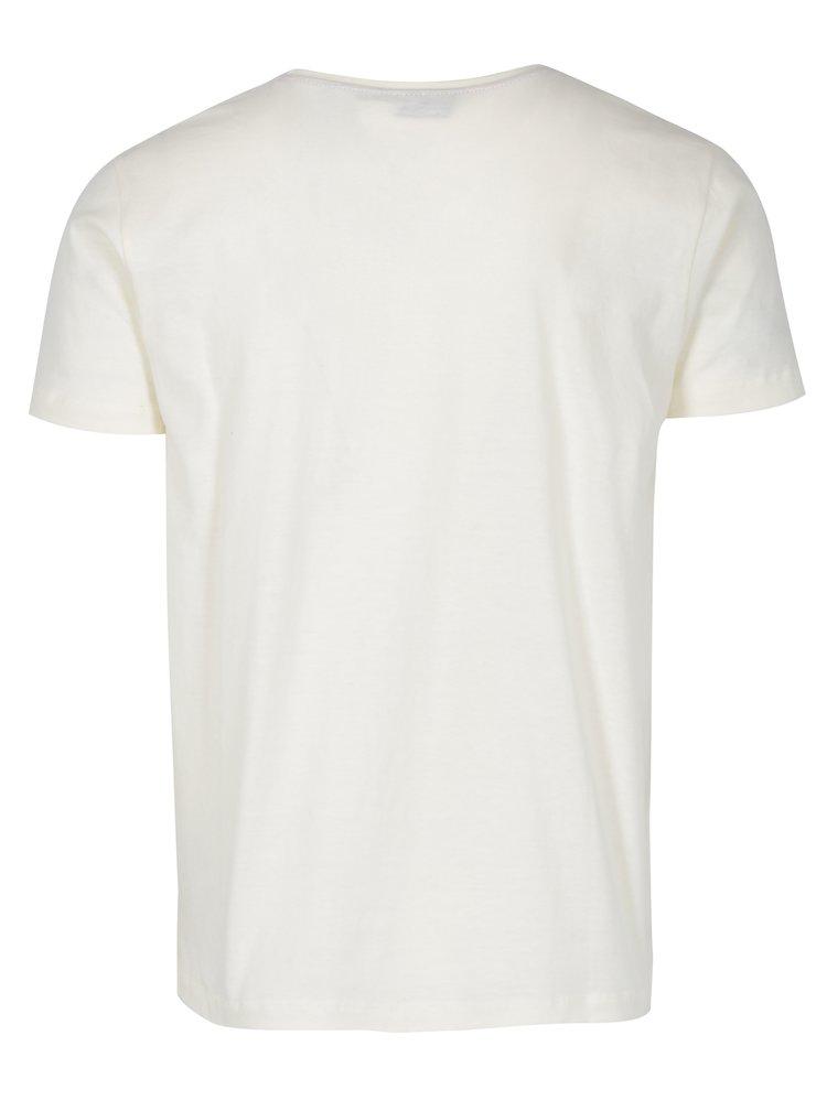 Krémové tričko s krátkým rukávem Merc