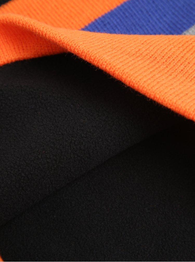 Oranžovo-modrá klučičí dutá šála 5.10.15.