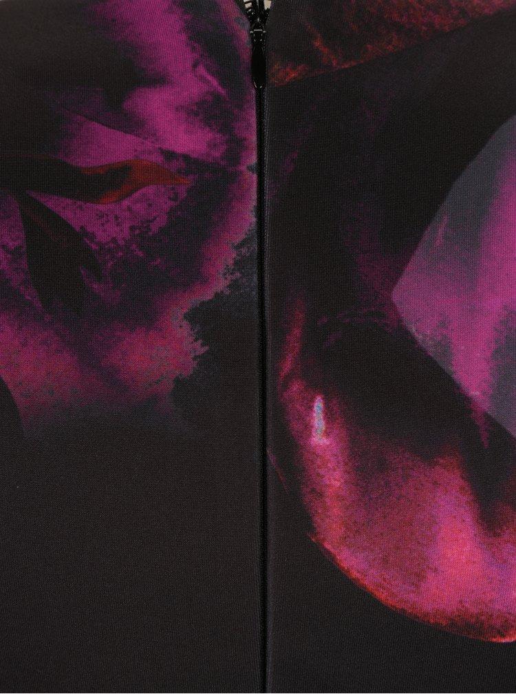 Růžovo-černé květované pouzdrové šaty Scarlett B