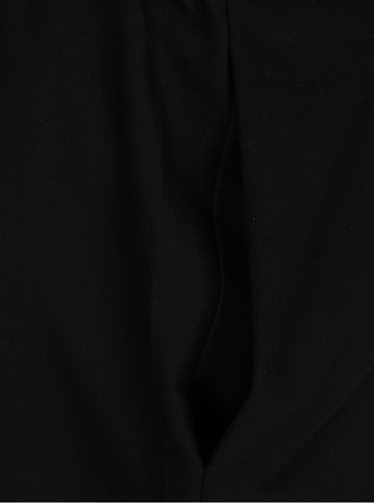 Černý vlněný overal s překládaným výstřihem a kovovou aplikací Rad Playground