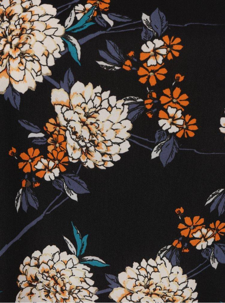 Tmavě modrá květovaná halenka Dorothy Perkins Curve