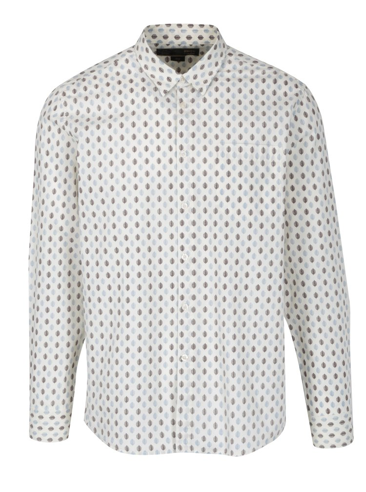 Krémová vzorovaná košile Merc