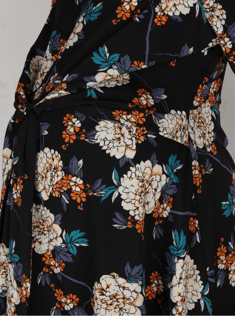 Tmavě modré květované těhotenské šaty Dorothy Perkins Maternity