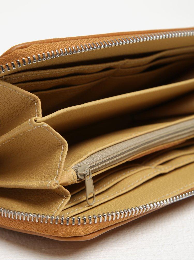 Hnědá kožená peněženka ZOOT