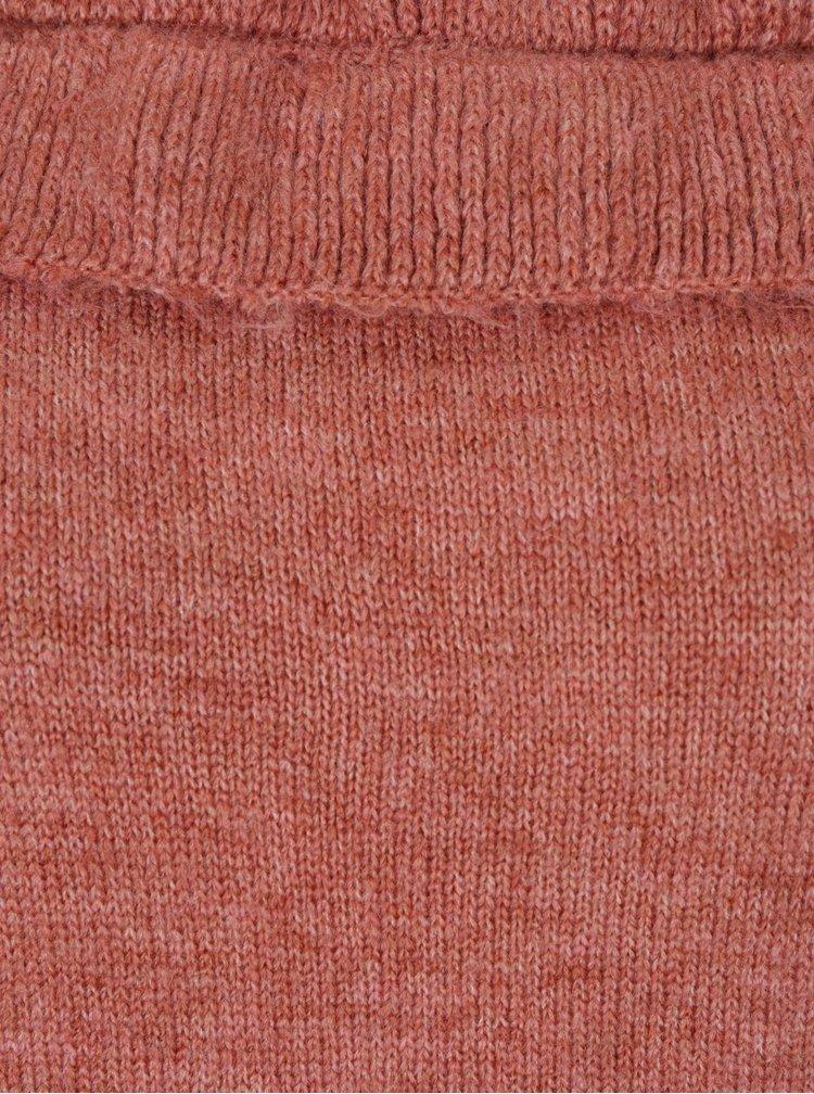Cihlový svetr s odhalenými rameny Dorothy Perkins