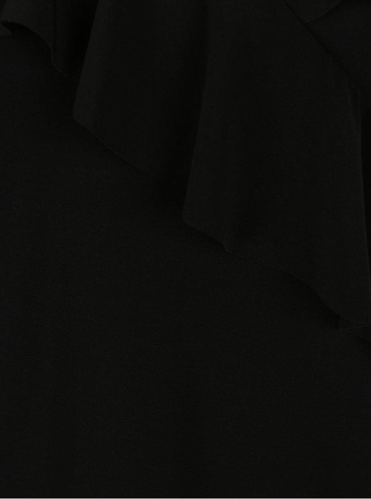 Černá halenka s volánky a odhalenými rameny Dorothy Perkins