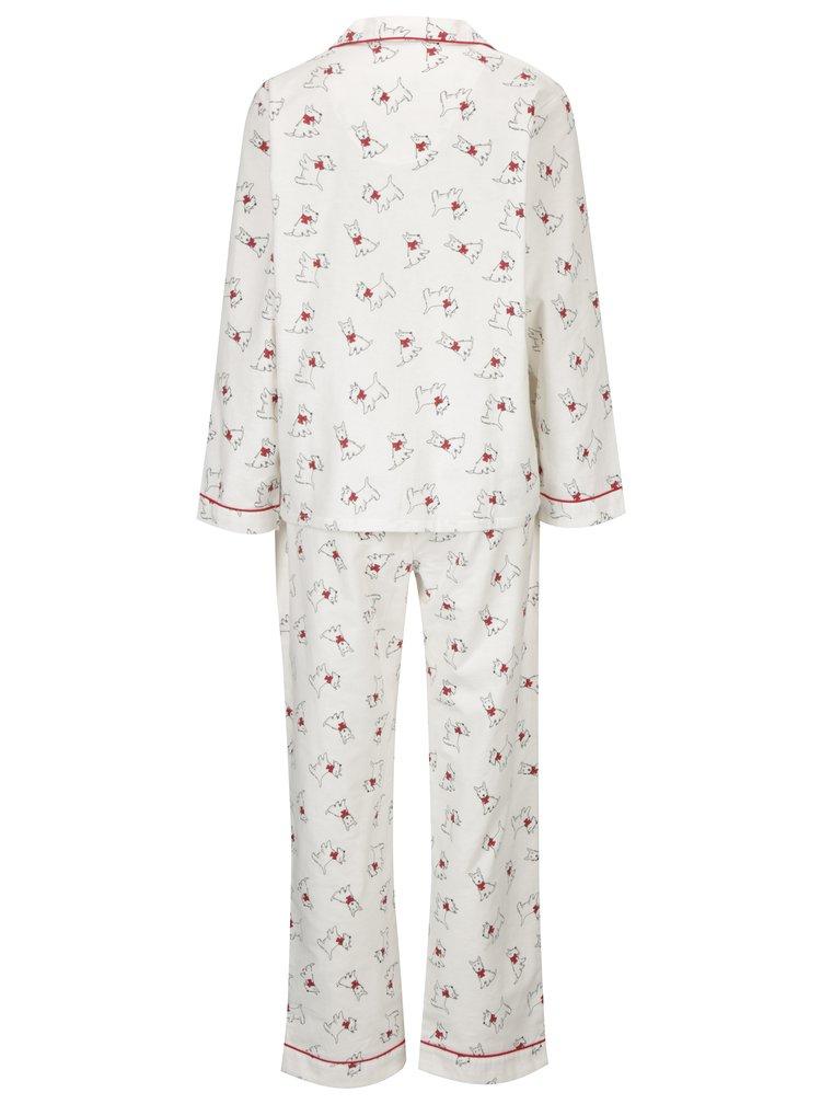 Bílé vzorované pyžamo s motivem psů Dorothy Perkins