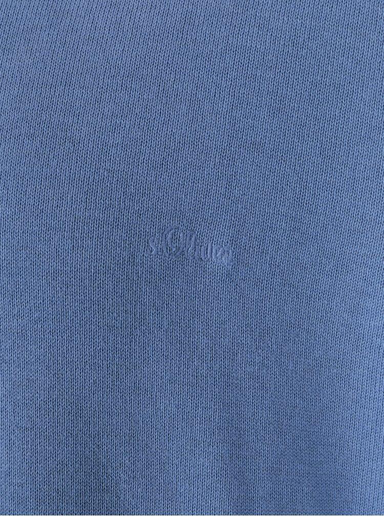 Světle modrý pánský svetr s véčkovým výstřihem s.Oliver