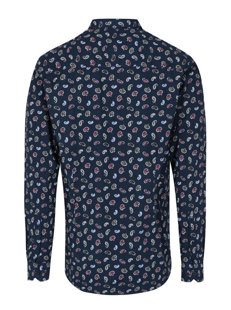 Tmavě modrá vzorovaná košile Merc