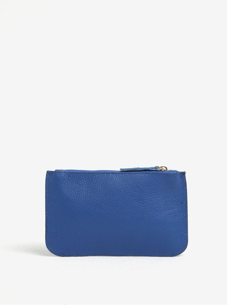 Geanta pentru cosmetice albastra din piele naturala - ZOOT