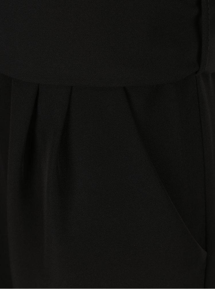 Černý overal s páskem Dorothy Perkins