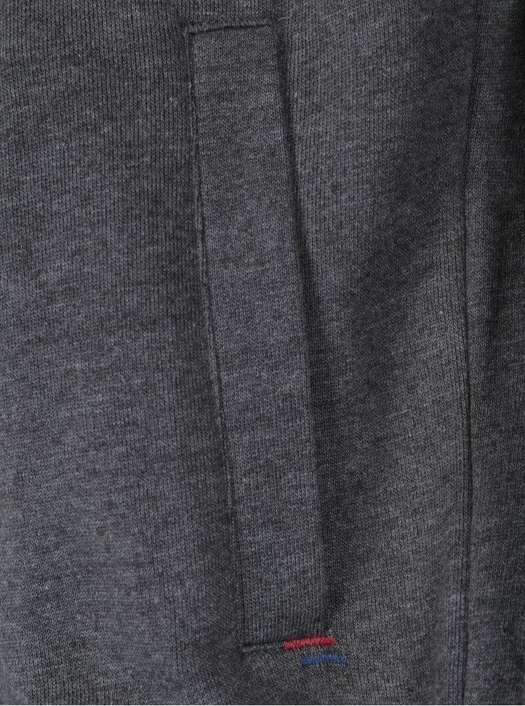 Sivá mikina na zips Merc