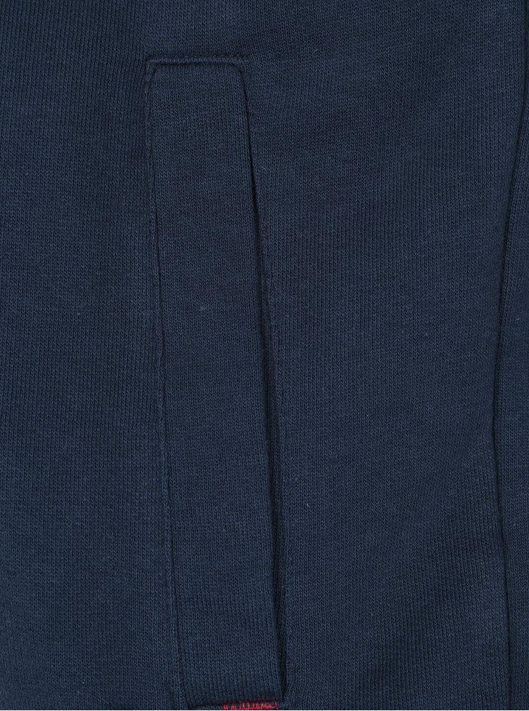 Tmavě modrá mikina na zip Merc