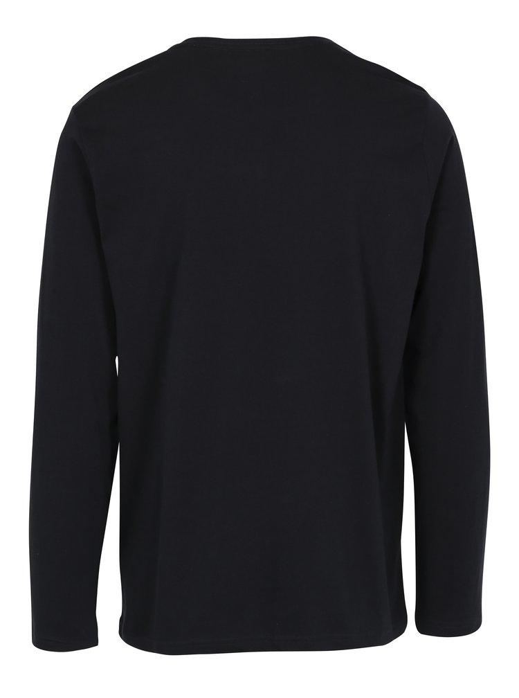 Černé pánské tričko s dlouhým rukávem Broadway Savage