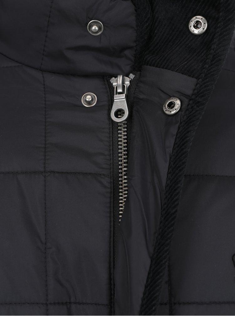 Černá lehká prošívaná bunda Merc