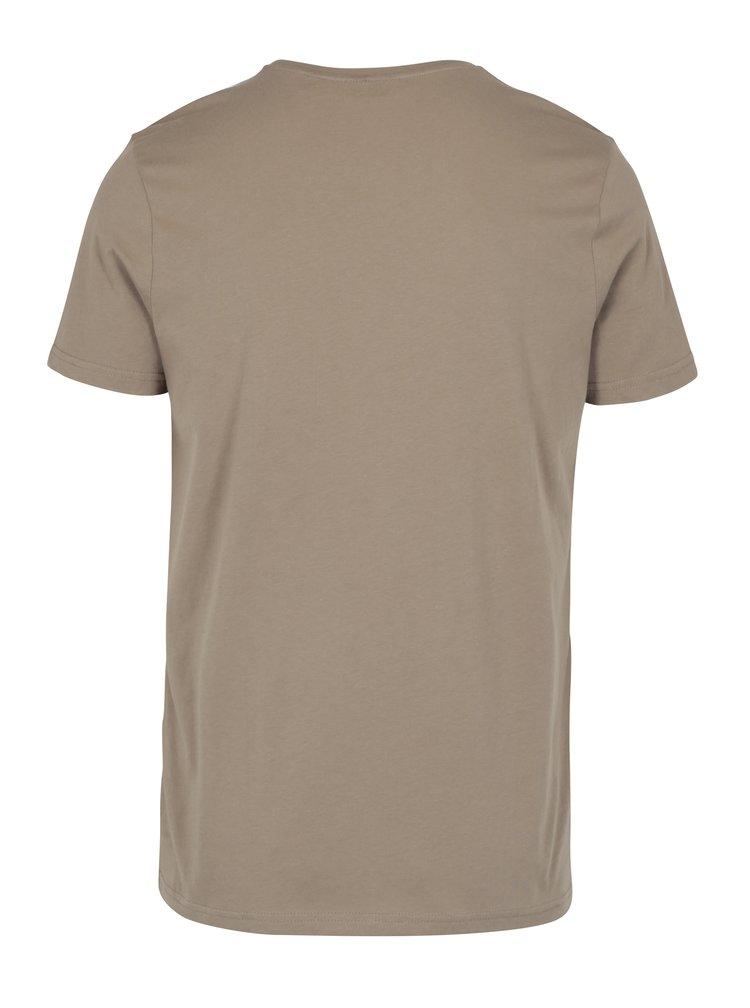 Hnědé pánské tričko s krátkým rukávem Broadway Bennie