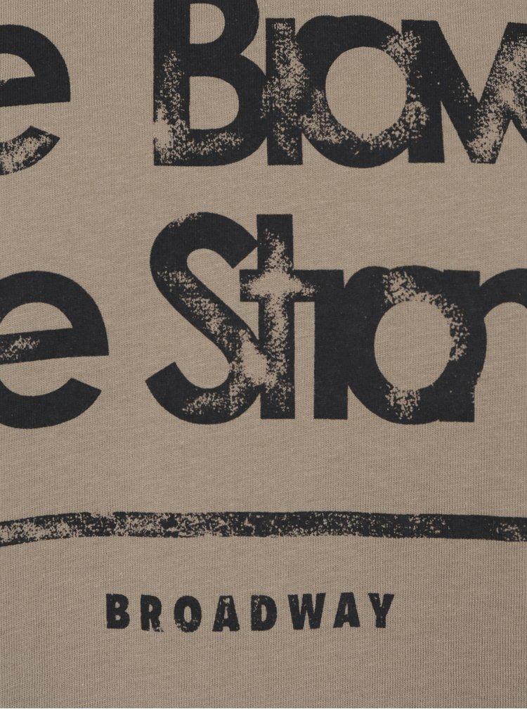 Hnedé pánske tričko s krátkym rukávom Broadway Bennie