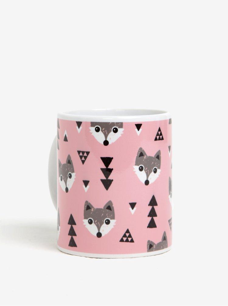 Cana roz din portelan cu vulipi si brazi  Butter Kings