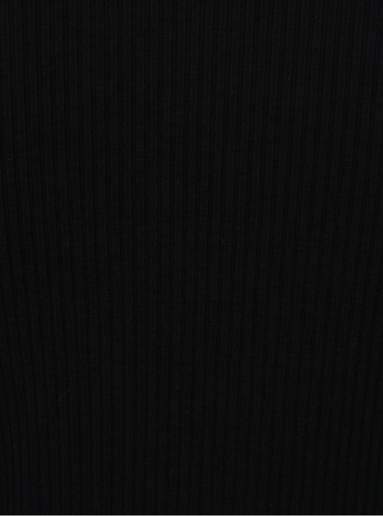 Rochie neagra cu guler crem - Rich & Royal