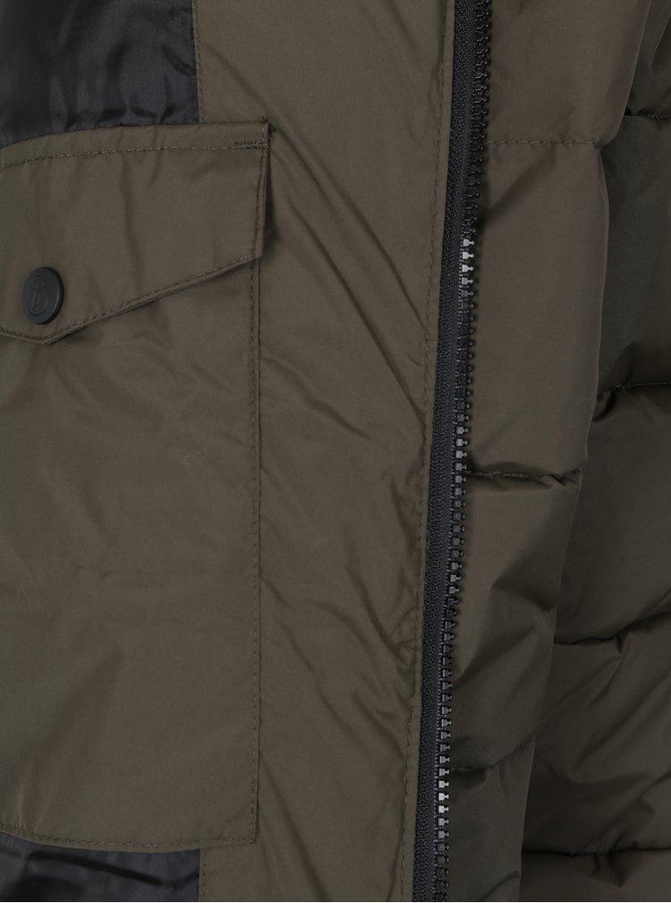 Tmavě zelená prošívaná bunda Burton Menswear London